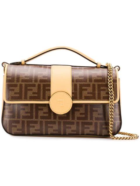 Fendi Double F Shoulder Bag - Brown