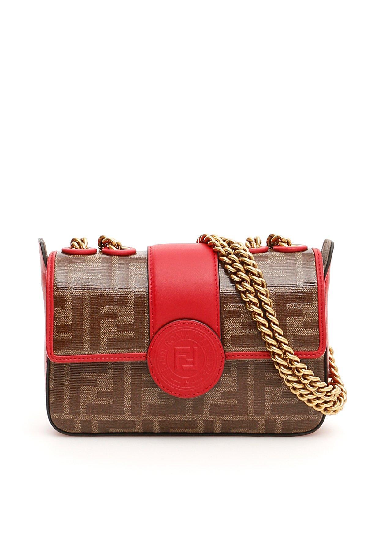 f94913e9dd75 Fendi Mini Double F Chain Strap Bag In Brown