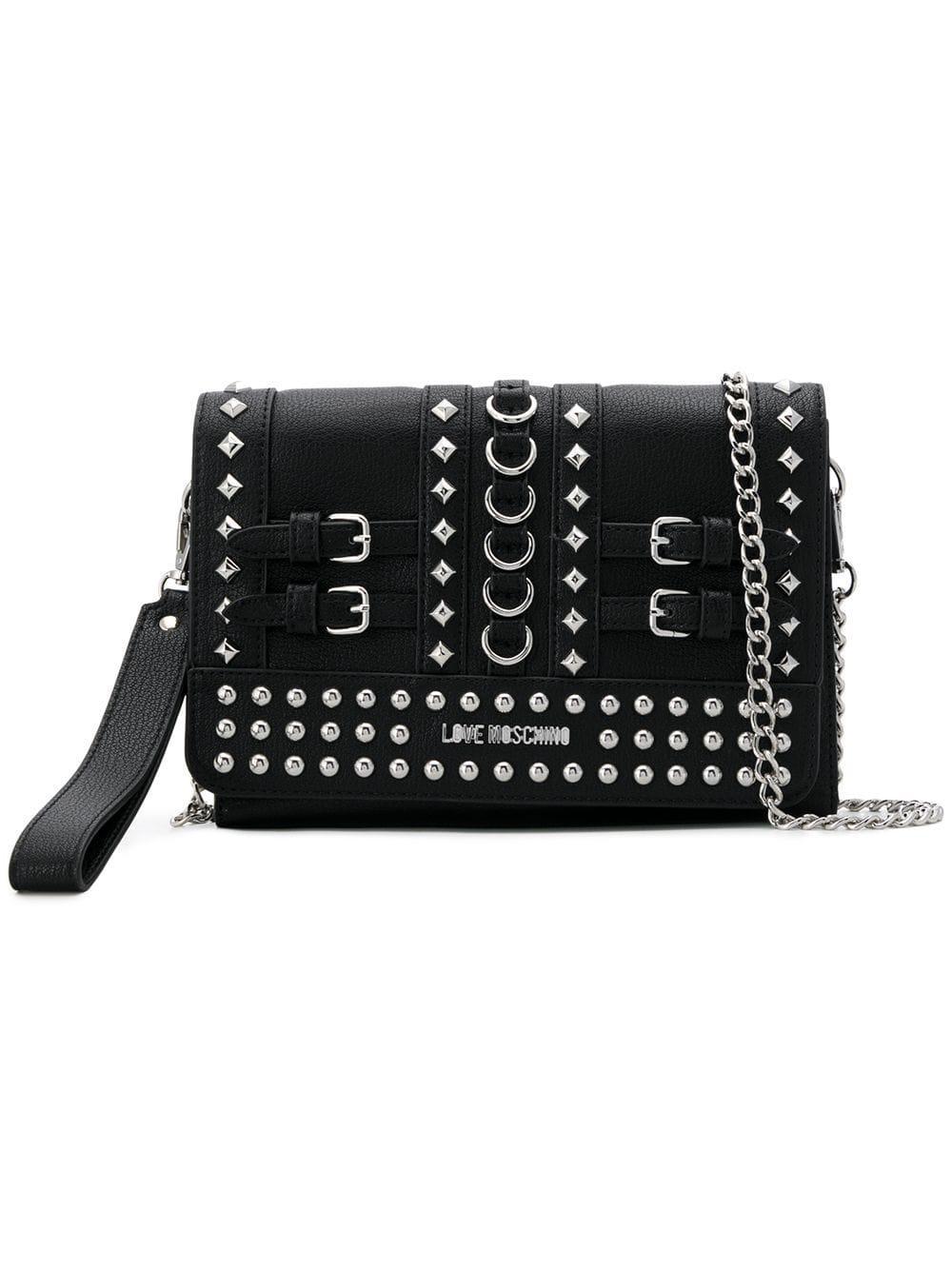44e1d375dc4b Love Moschino Studded Clutch Bag In Black