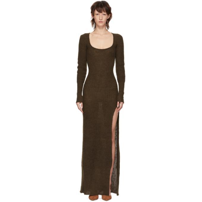 Jacquemus Brown La Robe Dao Dress In Dark Brown