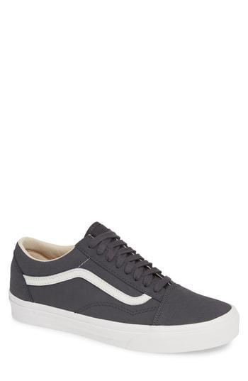 Buck Old Skool Sneaker In Asphalt Blanc Leather
