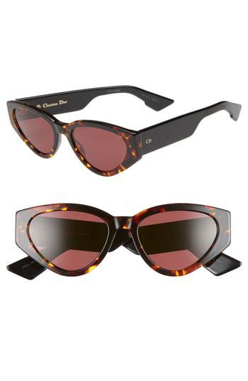 1e47d07a3ad2 Dior Spirit 2 52Mm Cat Eye Sunglasses - Yellow Red Havana