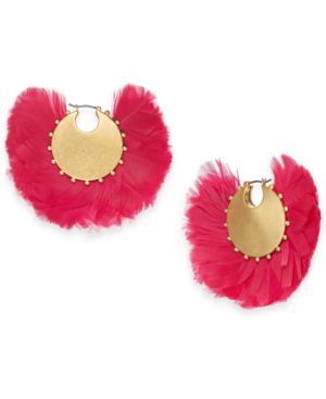 b1ad02c1f Kate Spade In Full Feather Hoop Earrings In Pink Multi | ModeSens