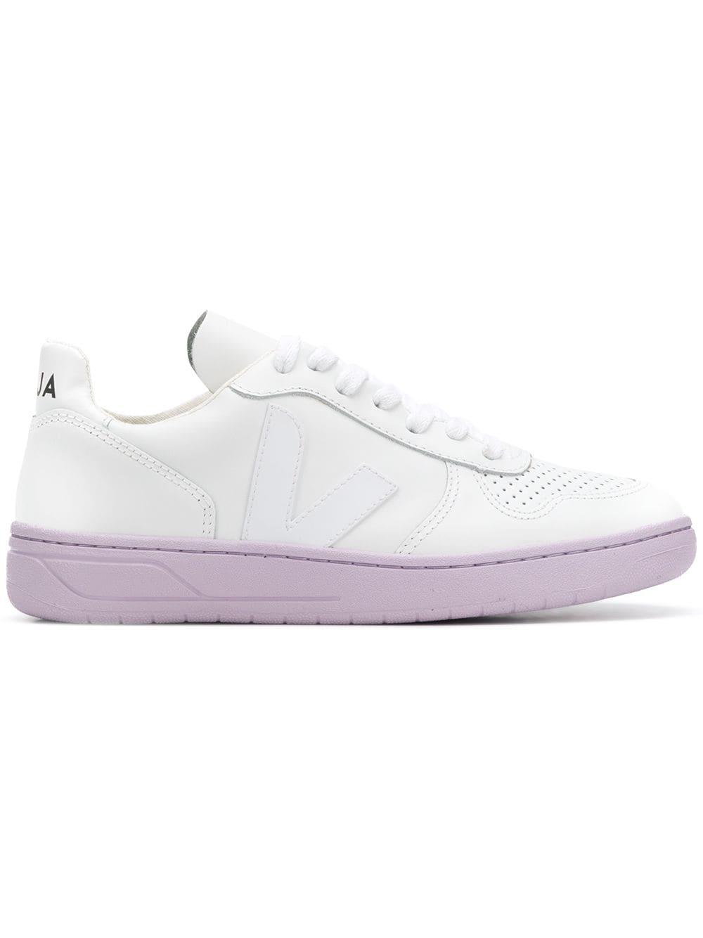 32ba72d69f8d25 Veja V-10 Low Top Sneakers In White