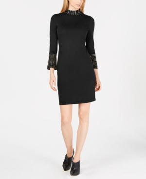 Calvin Klein Petite Embellished Dress In Black