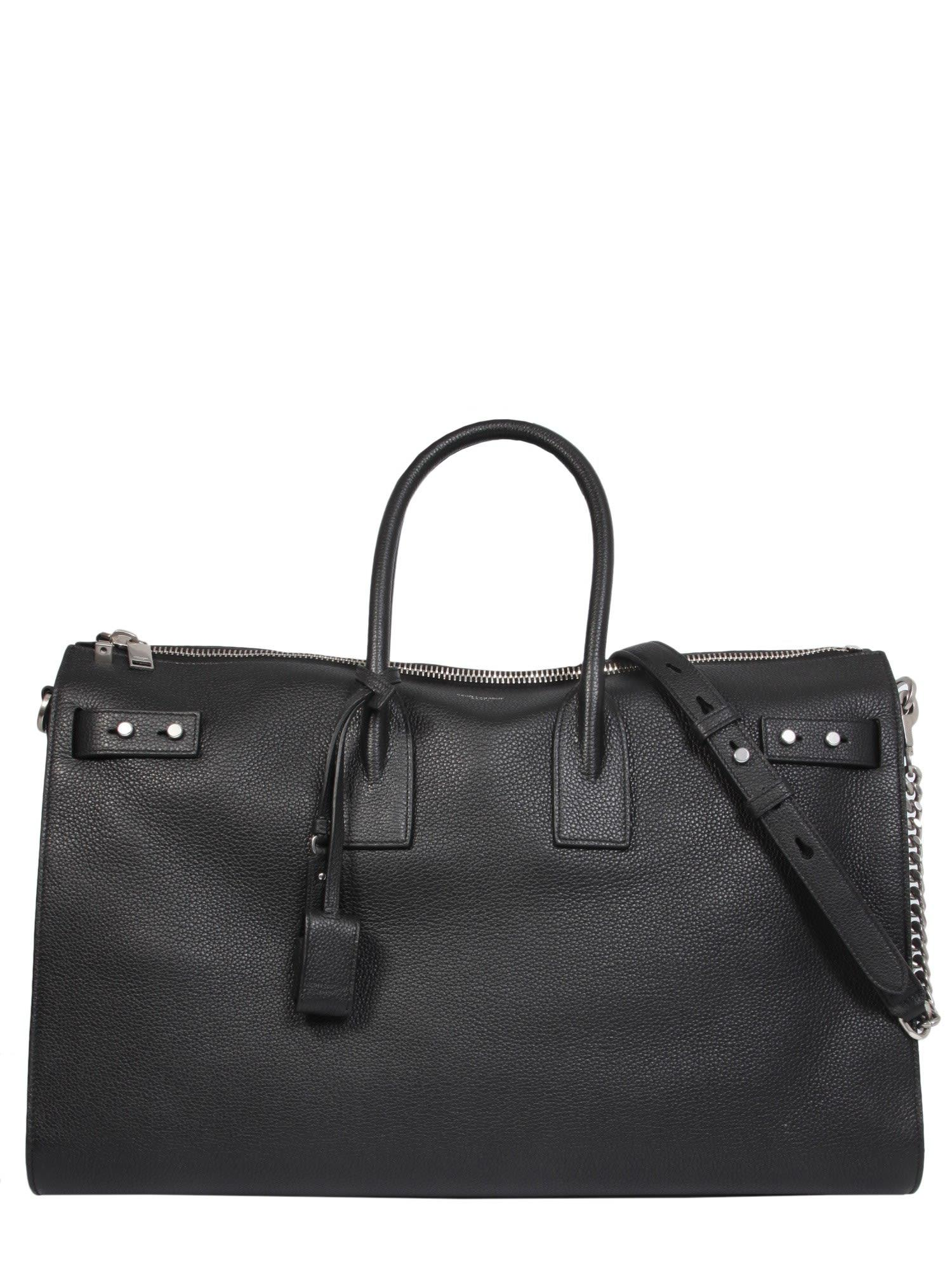 Saint Laurent Sac De Jour Souple 36 Duffle Bag In Nero  14d07f46c8e8c