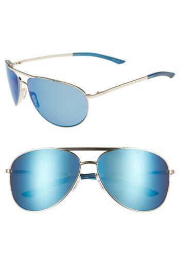fd9791a8e9230 Smith Serpico 2 65Mm Mirrored Chromapop(Tm) Polarized Aviator Sunglasses -  Gold  Blue