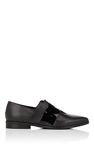 Barneys New York Laceless Leather Loafers In Black