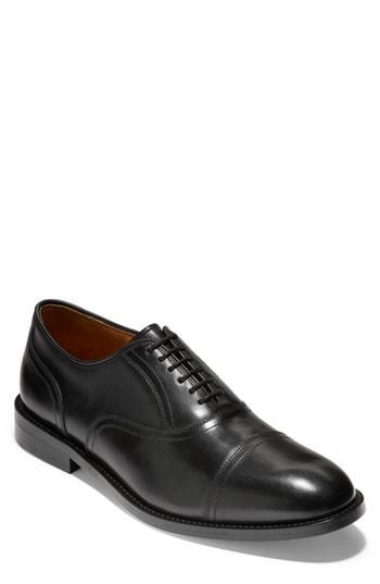 Cole Haan American Classics Kneeland Cap Toe Oxford In Black Leather