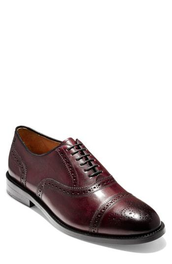 ff1c0365089fad Cole Haan American Classics Kneeland Cap Toe Oxford In Oxblood Leather