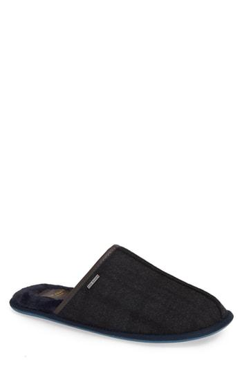 3d92c3cd74fd28 Ted Baker Ayntin Scuff Slipper In Dark Grey Textile
