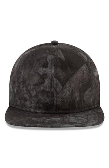 New Era 9Twenty Tonal Camo Flat Brim Hat - Black