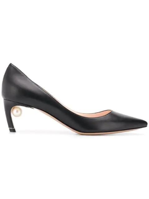 Nicholas Kirkwood Black Mira Pearl Heels In N99 Black