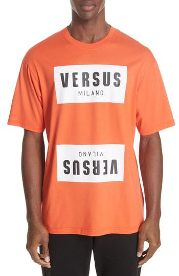 943600a9 Versus Versace Box Logo T-Shirt In Orange | ModeSens