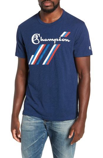 a67e701f Todd Snyder + Champion Stripe Graphic T-Shirt In Marine | ModeSens