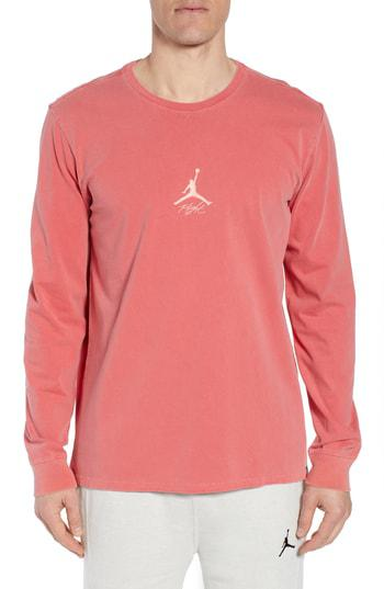 info for 4a010 36259 Nike Jordan Wings Long Sleeve T-Shirt In Gym Red
