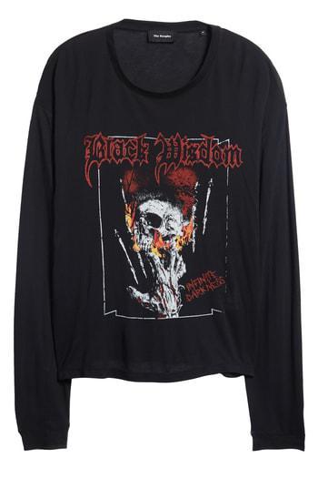 69e4898fd25 The Kooples Black Wisdom Graphic Long Sleeve T-Shirt | ModeSens