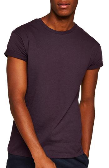 83433042 Topman Muscle Fit Roller T-Shirt In Purple | ModeSens