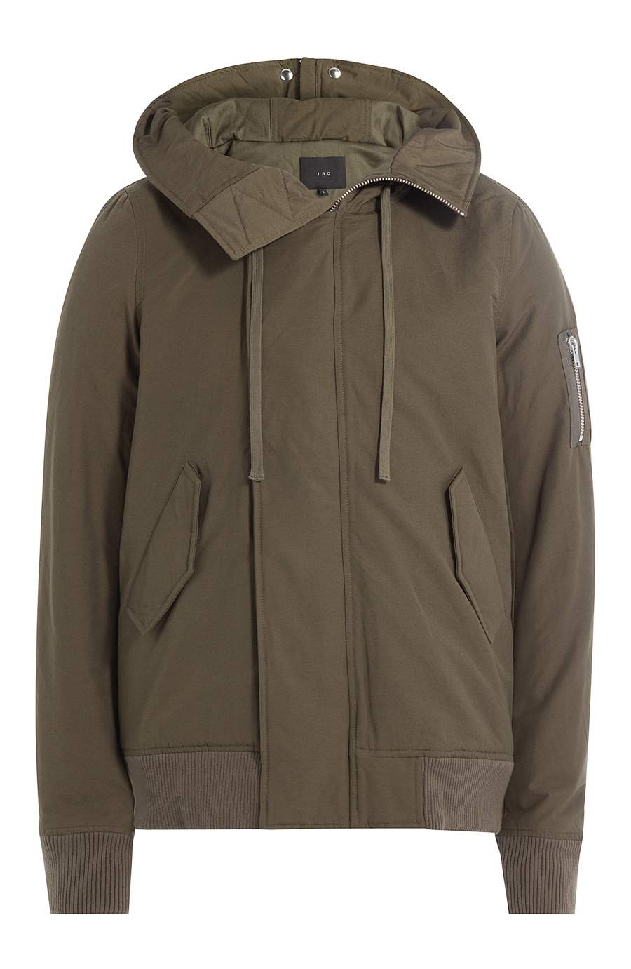 Iro Jacket With Hood In Green