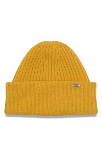 50ceff4fd7e New Era Cashmere Beanie - Yellow In Gold