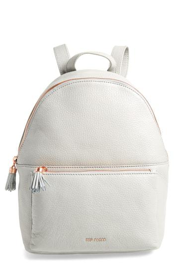 208bce1a5 Ted Baker Leather Backpack - Grey