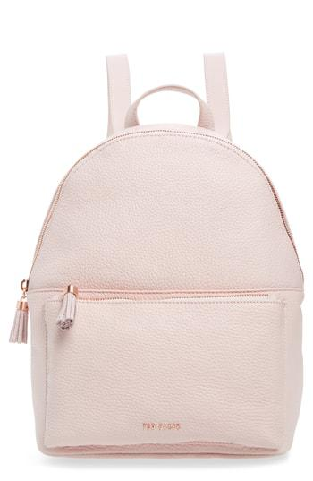 21b4f3a60 Ted Baker Leather Backpack - Pink In Pale Pink