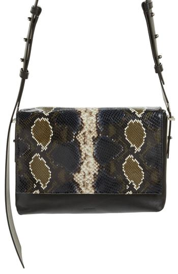 e4639eb030 Allsaints Versailles Python Print Leather Shoulder Bag - Black In Black  Multi  Dark Khaki