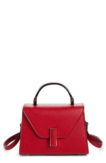 Valextra Iside Mini Top Handle Bag In Red