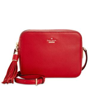 c6a84cbfe1f6 Kate Spade Kingston Drive - Arla Leather Crossbody Bag - Red In Heirloom Red
