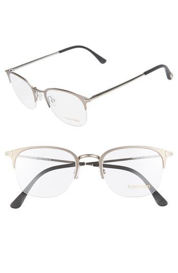 77c277502aa Tom Ford 50Mm Optical Glasses - Matte Dark Ruthenium. Nordstrom