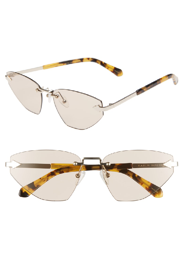 afb8e7314197 Karen Walker Heartache 60Mm Cat Eye Sunglasses - Gold  Tortoise