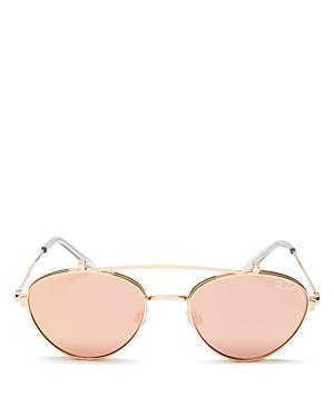 230f799a16 Quay X Elle Ferguson Elle 59Mm Round Sunglasses - Gold  Rose