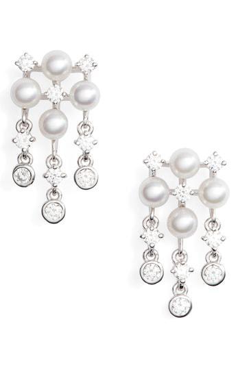 dd98b9dd0 Mikimoto Akoya Cultured Pearl & Diamond Earrings In White Gold ...