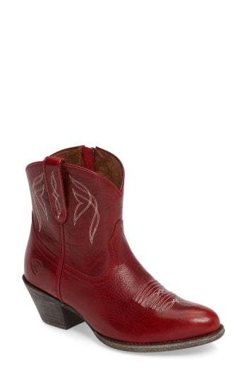0feb8f89e070 Ariat Darlin Short Western Boot In Rosy Red Leather | ModeSens