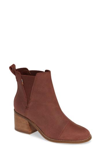 a61dd362b3d Toms Esme Bootie In Burnt Henna Leather