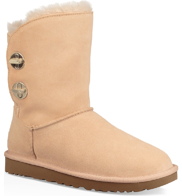 aa97e8865c1 Short Luxe Turn-Lock Boots in Amber Light Suede