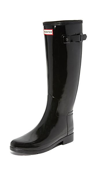 b1323006a2de Hunter Original Refined Gloss Tall Waterproof Rain Boot In Black ...