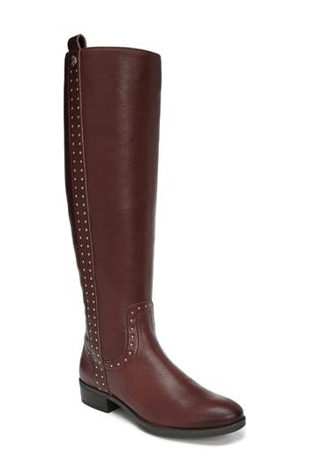 989f4ae0c263 Sam Edelman Women s Prina 2 Wide Calf Tall Leather Boots In Redwood Brown  Leather