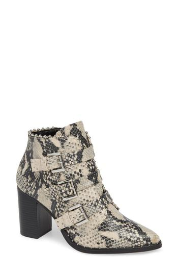 d344efc2e17 Steve Madden Humble Bootie In Natural Snake Print Leather