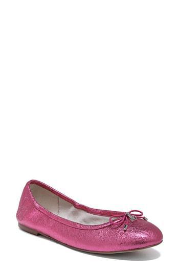 da21a235a35b Sam Edelman Felicia Flat In Pomegranate Pink Leather