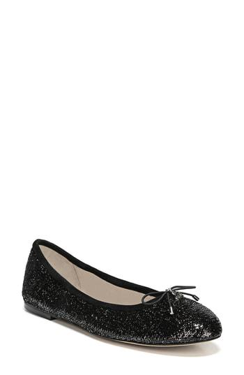 2ca2c41d91fb A delicate logo charm adorns the bow-trimmed toe of a charming ballet flat.  Style Name  Sam Edelman Felicia Flat. Style Number  372142 13.