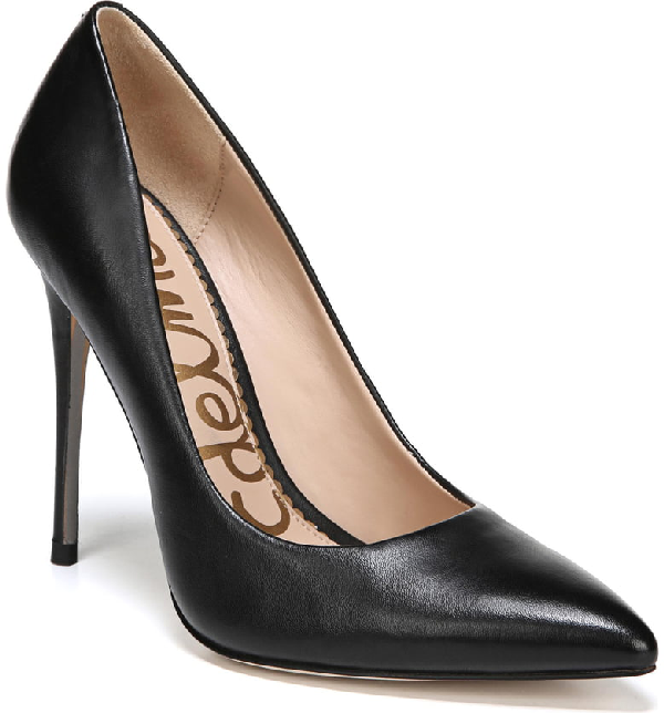 2478d22b4 Sam Edelman Women's Danna Pointed Toe High-Heel Pumps In Black Leather