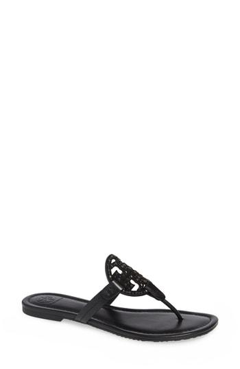 133101891a8 Tory Burch Miller Embellished Sandal In Perfect Black