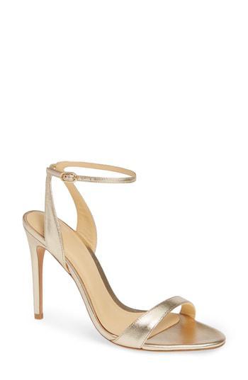 Alexandre Birman Willow Sandal In Golden Leather