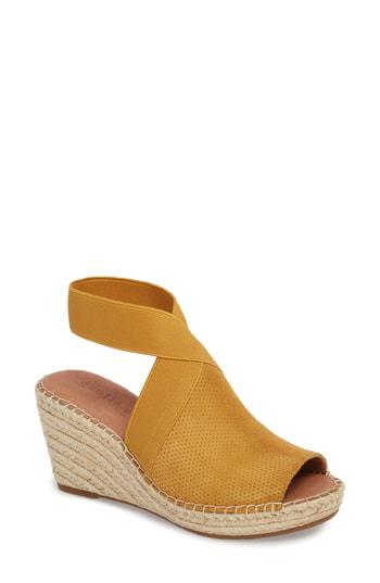8d362738dac By Kenneth Cole Colleen Espadrille Wedge in Marigold Suede