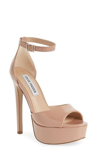 2ec254aa8ce Steve Madden Major Platform Sandal In Blush Patent