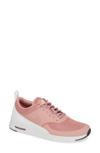 best website e91fe 3fdf0 Nike Air Max Thea Sneaker In Rust Pink  White  Black