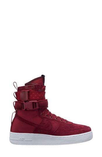 size 40 009ab 77d7c Nike Sf Air Force 1 High Top Sneaker In Red