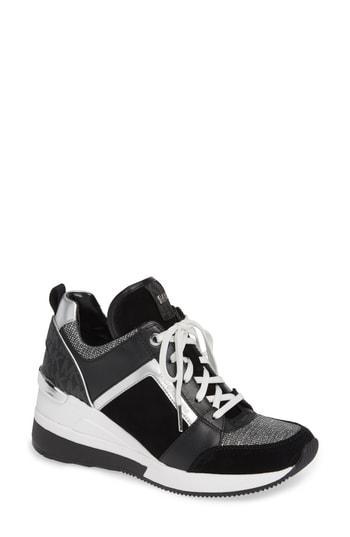 27f12ba074e Michael Michael Kors Georgie Wedge Sneaker In Olive Fabric