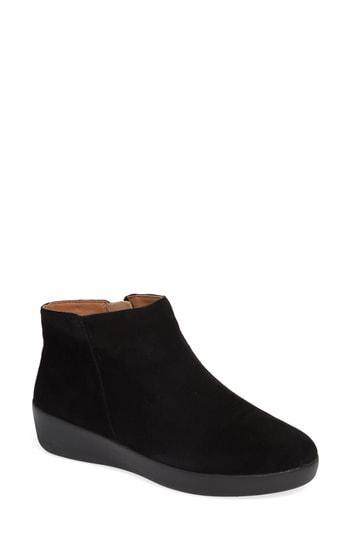 a7096b837 Fitflop Sumi Sneaker In Black Suede